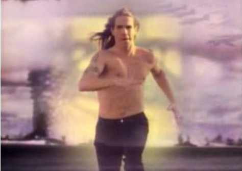 Anthony Kiedis, running away from rehab presumably.