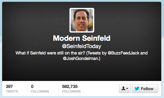 Seinfeld Today - on Twitter