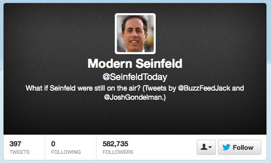 Seinfeld Today - on Twitter