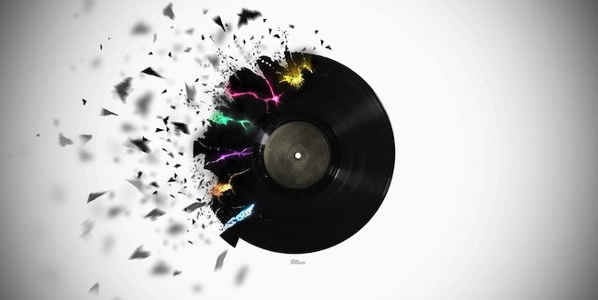broken LP record
