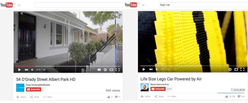 Youtube video success comparison