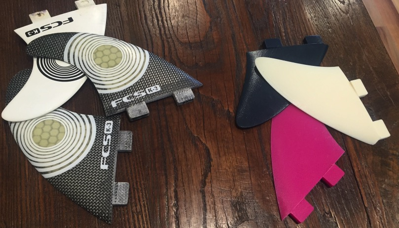 3D Printed Surfboard fins